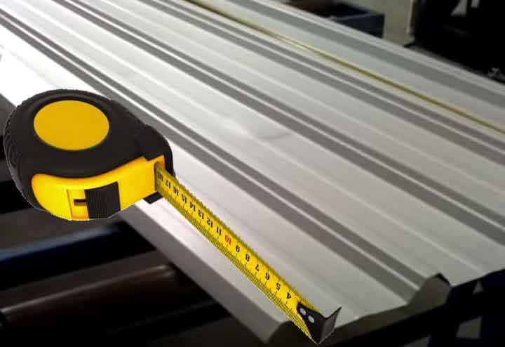 ukuran atap spandek per lembar